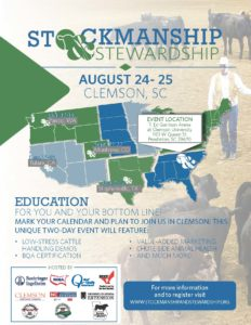 Image of Stockmanship and Stewardship event flyer
