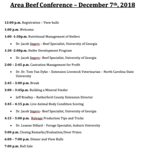 Area Beef Conference flyer image 2
