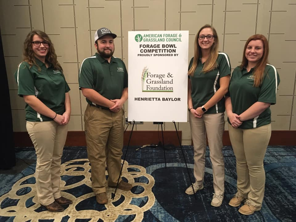 Image of the Mount Olive Forage Bowl Competition team